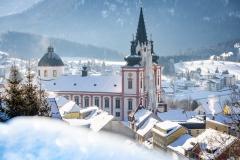 Mariazell-Basilika-Panorama-Promenade-Winter-7084
